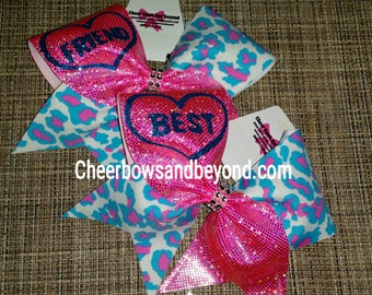 Best Friend Cheer And Dance Bows