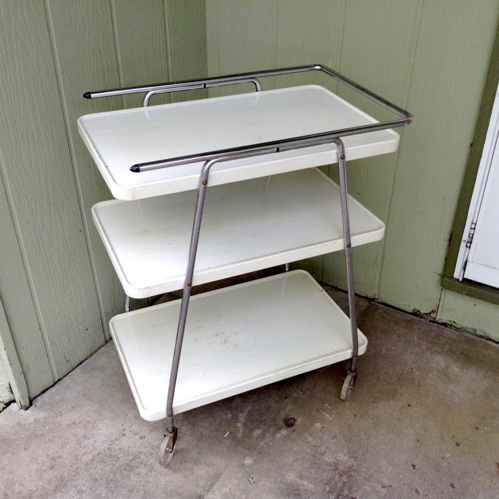 Stylish Metal Kitchen Utility Rolling Cart 3 Tier With Glitter Or Sparkle Filled Wheels A