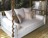 """Porch Swing: The """"West Ashley"""" Swing Bed -- FREE SHIPPING! (Bedswing)"""