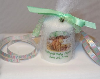 Classic Pooh Umbrella Baby Shower Candle Favors