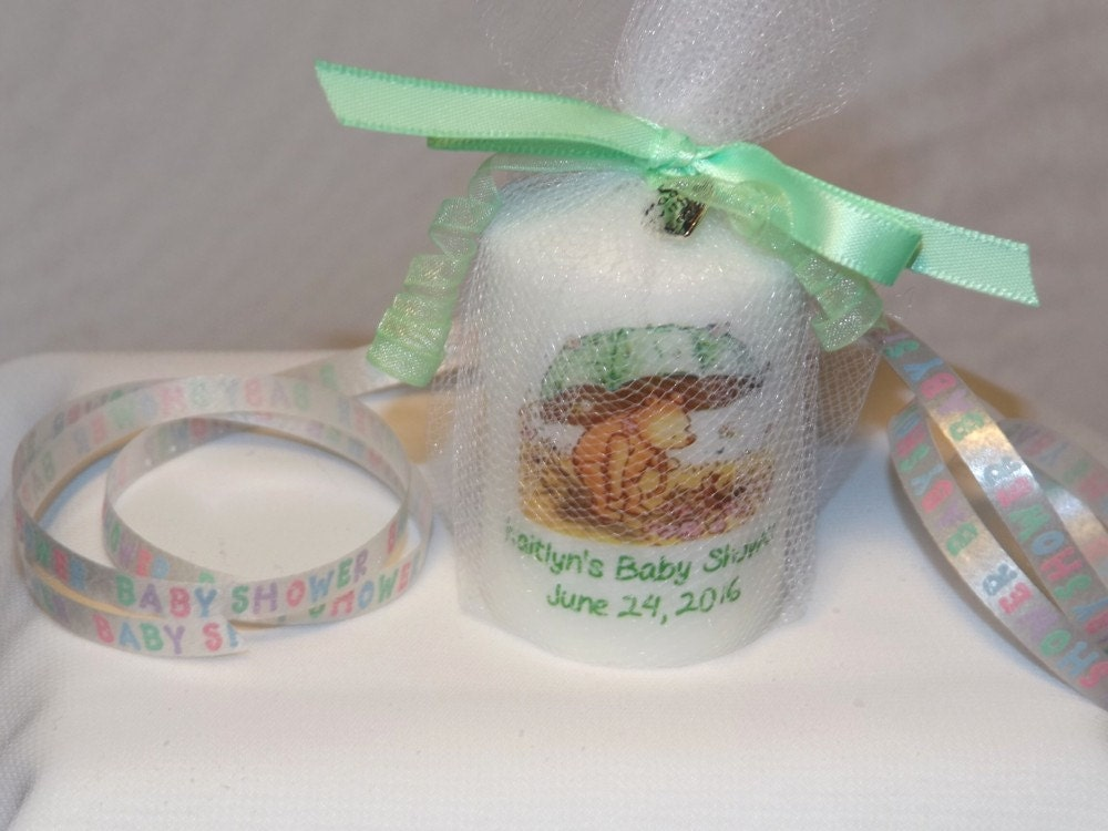 Baby Shower Favors Umbrella ~ Classic pooh umbrella baby shower candle favors
