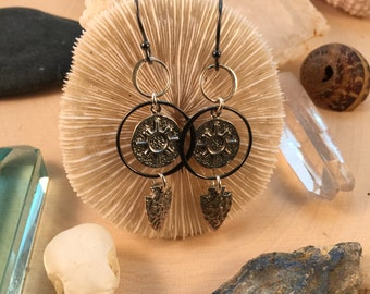 Sun Talisman Earrings