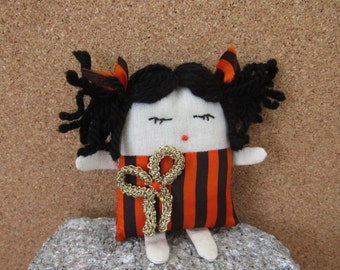 Halloween handmade little doll,small,unique and beautiful