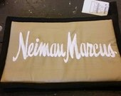 Vintage Neiman Marcus Embroidered Potholder New Old Stock Black, Tan and White