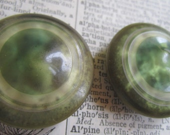 Pair of Vintage Celluloid Bubble Top Buttons