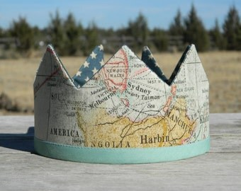 Reversible and Adjustable Explorer Crown, Double Sided, Birthday Crown, Halloween, Christmas Crown, Dress Up, Pretend, King, Princess