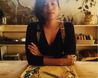 Woven Cloth Suspenders- Ikat & Guatemalan