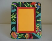 """Rain Forest Wooden Frame - 5""""x7"""" - Rain Forest Theme / Handcrafted / Made in Indonesia / Children's Decor / Family Vacation"""