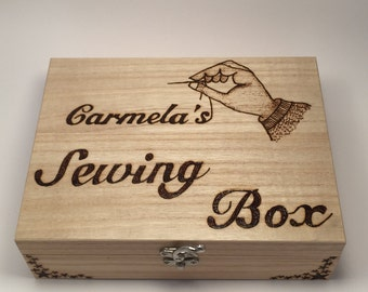 Personalised Wooden Sewing Box