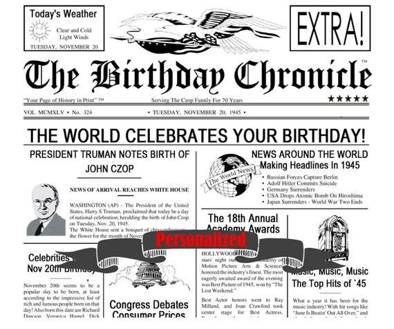 Personalized 30th Birthday Gift 30th Birthday Time Capsule Thirty Birthday 8 X 10 DIGITAL DOWNLOAD JPG