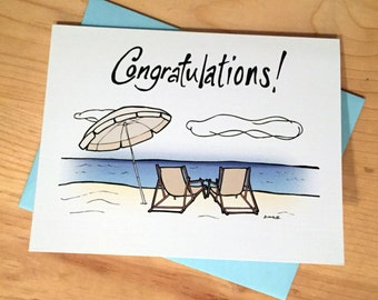Congratulations Card: Beach