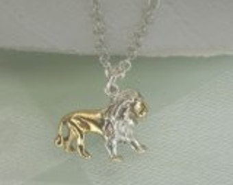 Lion Pendant in 18ct Gold on Sterling Silver.