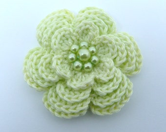 Crochet brooch. Large crochet flower brooch, Mother's day gift, birthday gift, brooch pin,  flower corsage, Christmas gift, stocking stuffer