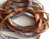 Red Earth (Edited)- 42 Inch Hand Dyed Silk Ribbon by FancifulWishJewelry