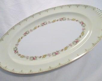 Vintage Meito China Oval Serving Platter