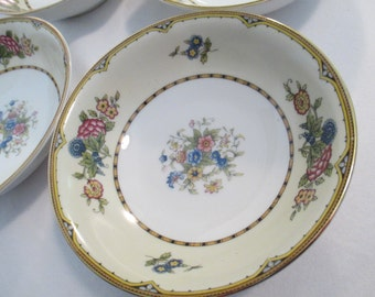 Vintage Noritake China Elysian Coupe Cereal Bowls - Set of 4
