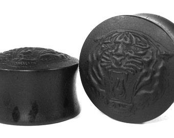Tiger pattern Organic Handmade Wooden Ear Plugs/Gauges 10mm-40mm size