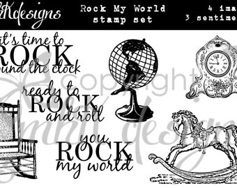 Rock My World Digital Stamp Set