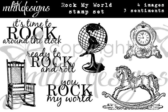 Rock My World Digital Stamp Set