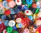 Grab Bag of 35 Vintage Antique Retro Plastic Buttons
