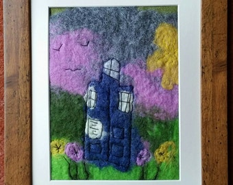 Felted Tardis picture