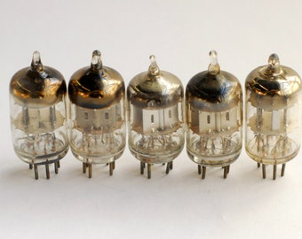 set of 5 6AL5 vacuum tubes -  for crafts, steampunk, experimenting - buy 5 or 50 or 500 and they ship for the same price