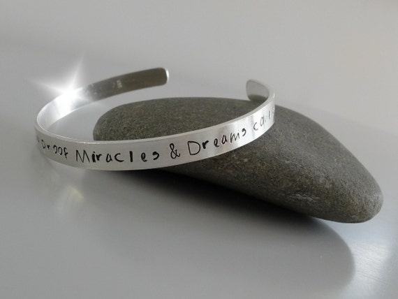 Personalised Bangle with Message, Personalised Bangle with Names, Mothers Day Bangle, Song Lyrics Bangle, Childrens Names Bangle, Silver