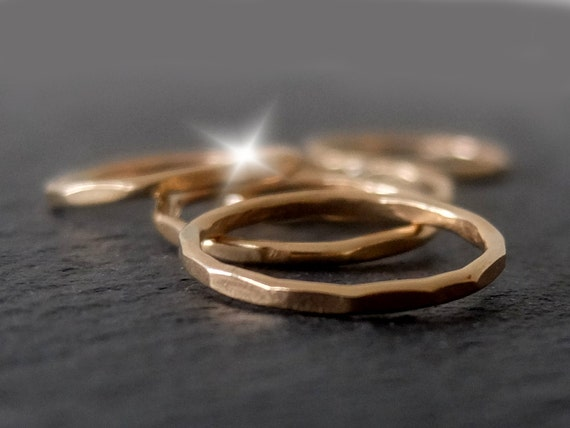 Gold Stacking Rings Set of 5, Gold Filled Stacking Rings, Gold Skinny Rings, Stacking Rings Set, Skinny Rings Set, 5 Gold Rings, Ring Set