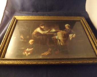 Beautiful Antique Framed Picture from 1920s