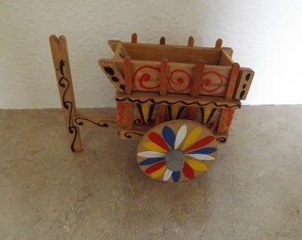 Wooden Peddlers Cart From Costa Rica With Hidden Compartment