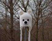 Polar Bear Hat - Bear Hat -Animal Hat - Baby Hat - Kids Hats - Winter Hat