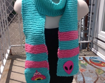 Kawaii Alien Outerspace Scarf