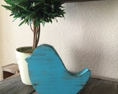"""Distressed Wooden Bird 1 1/2"""" Thick"""