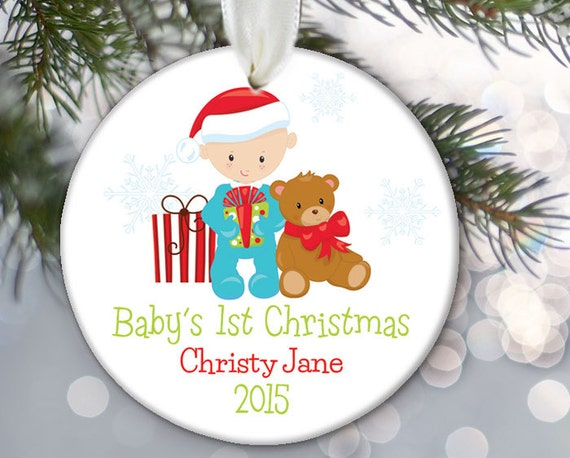 Baby Boy Gifts For Christmas : Items similar to personalized christmas baby gift