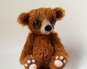 Mohair Character Bear - Pdf sewing pattern/ needle felting tutorial