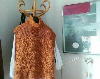 Chunkyknit Fuller figure/extra large Butterscotch Jumper/knitted jumper Ready to ship