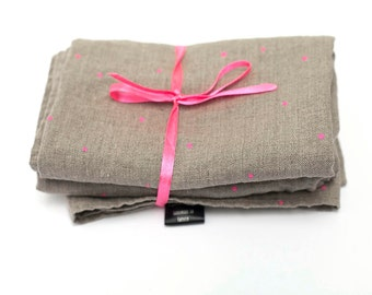 Linen Tea  towels washed natural, eco - friendly, handmade linen towels // gift // 2  tea towels, hand  towels, natural linen 100%