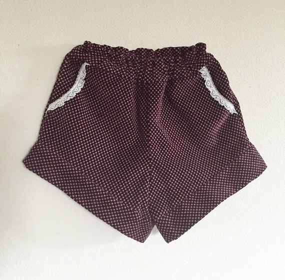 Girls Shorts/Corduroy/Stylish/New Vintage/Maroon