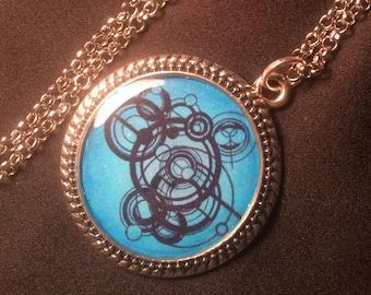 Customized Dr Who Gallifreyan Text Tibetan Silver Round Pendant Necklace