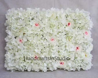 Flower Wall Backdrops Silk Flowers Wall Background For Wedding Romantic Photography Backdrops Silk Flower Panels 40*60cm