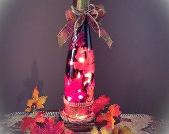Wine bottle Light! An Autumn Delight!