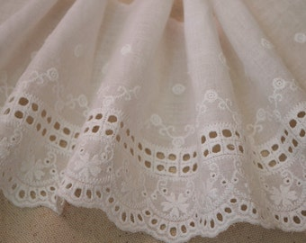 cotton lace trim by the yard