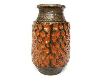 Vintage XL ceramic vase, floor vase Jasba 1525-40, West German Pottery
