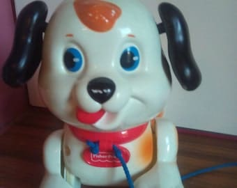 Vintage Fisher Price Pull Along Yapping Dog Toy