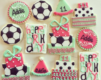Soccer Birthday Cookies