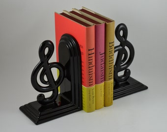 Vintage japanese omc lidded bowl by twoguysvintage on etsy - Treble clef bookends ...