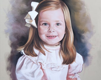 Classic Pastel portrait of a girl