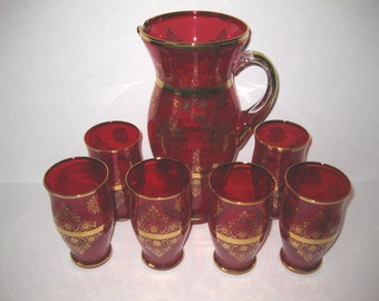 Venetian Red Mixer and Glasses
