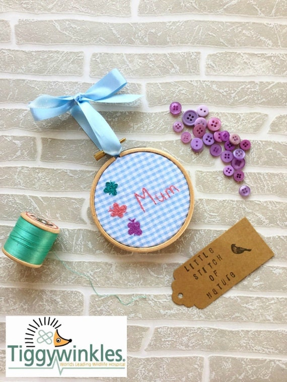 Embroidery hoop art mothers day gift by littlestitchofnature