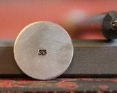 A .925 Flat Straight Metal Stamp 1mm Tall x 2mm Wide SGW-18